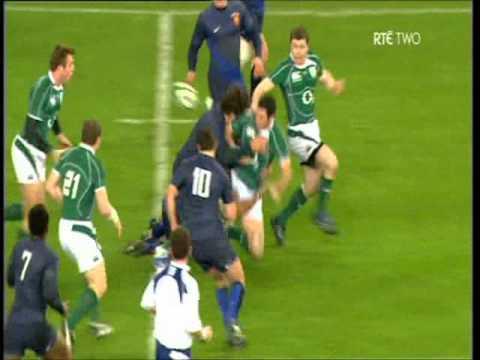Jamie Heaslip try vs France 2009