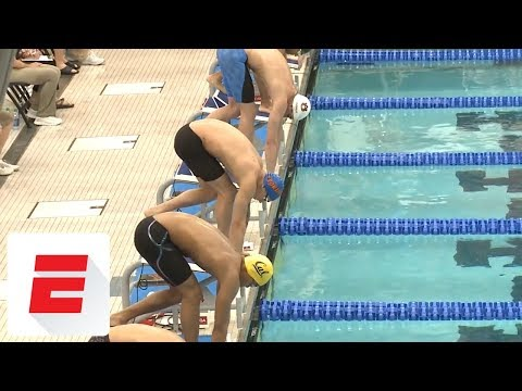 Download Youtube: Caeleb Dressel sets American record with 18.1 in 50 Free at NCAA Championship Prelims | ESPN