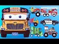 appMink School Bus | Police Car Fire Rescue | Monster Truck Steam Train Kart Racing kids videos