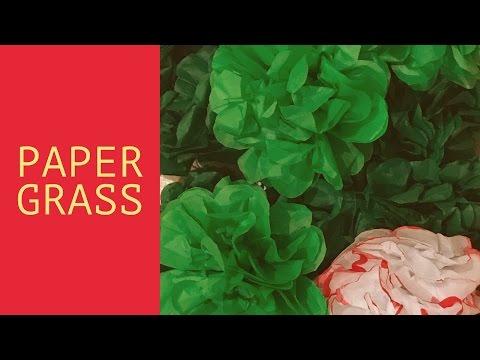 Easy DIY Paper Grass