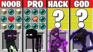 Minecraft Battle ENDERMAN CRAFT NG CHALLENGE  NOOB Vs PRO Vs HACKER Vs GOD – Evolution Animation