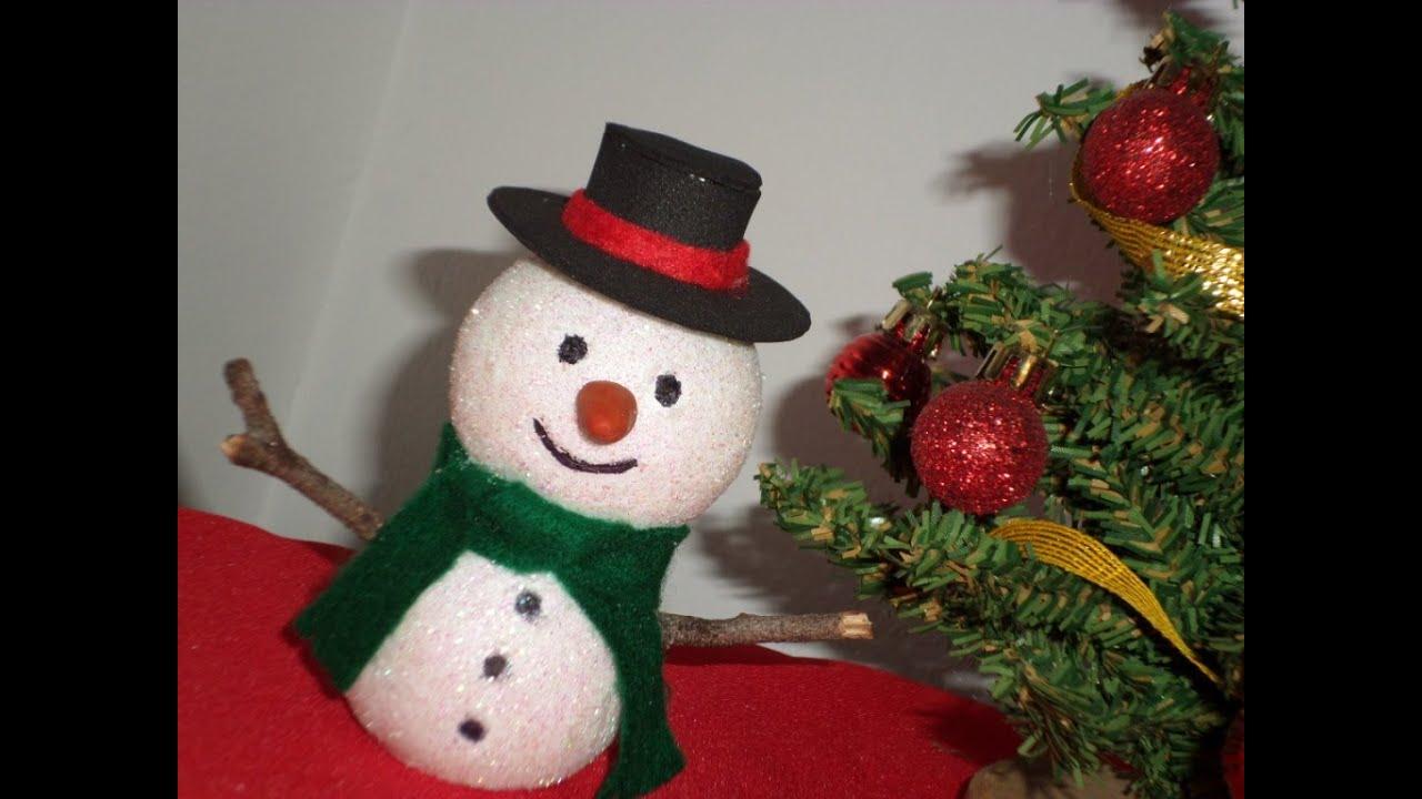 Mu eco de nieve adorno de navidad snowman youtube - Munecos de navidad ...
