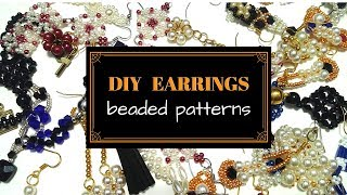 Beading tutorials for DIY EARRINGS. Beaded earrings.