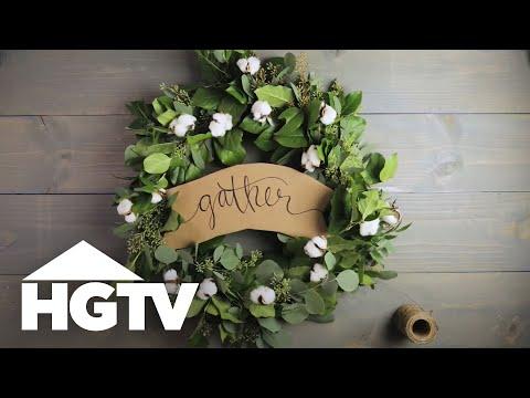 How To Make A Eucalyptus Wreath Hgtv