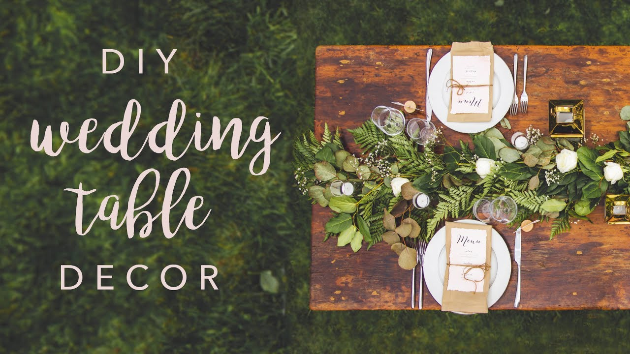 Diy wedding table decor swoons youtube diy wedding table decor swoons solutioingenieria Gallery