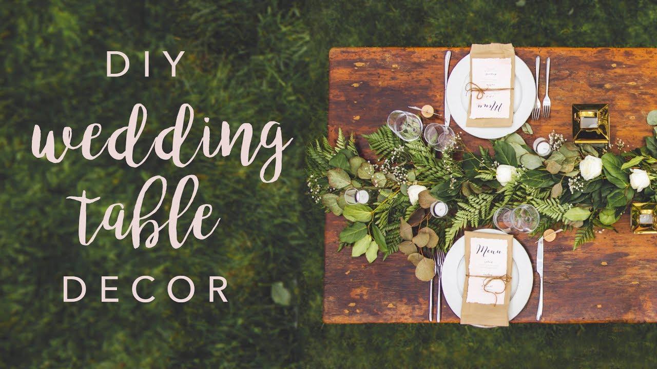 DIY WEDDING TABLE DECOR SWOONS