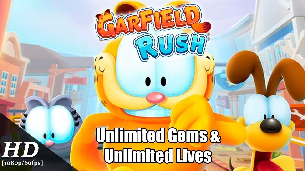 Garfield Rush v 2 0 4 Unlimited Gems & Unlimited Coins