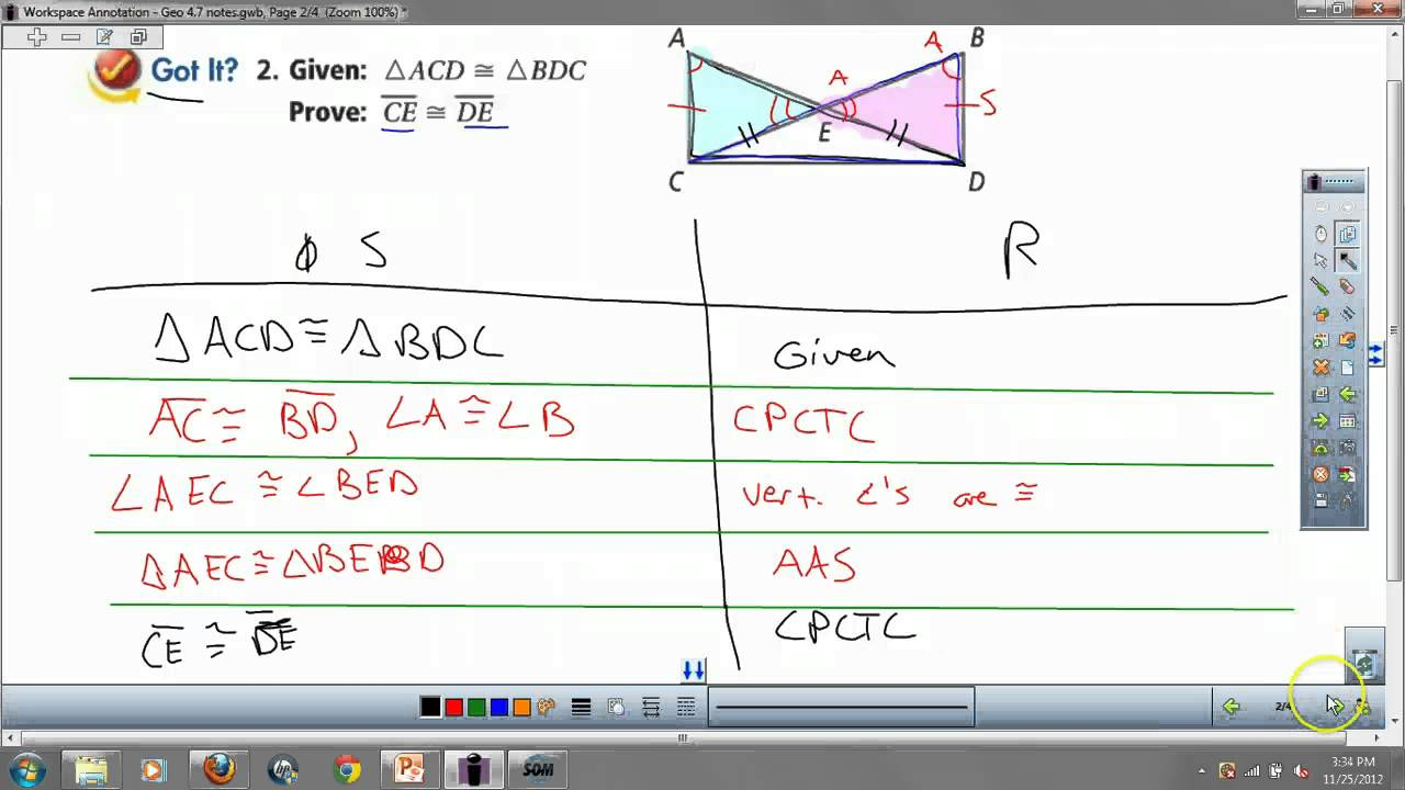 Geometry 4 7 Overlapping Triangles Proofs
