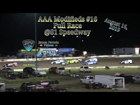 (AAA) Modifieds #74, Full Race, 81 Speedway, 08/16/19