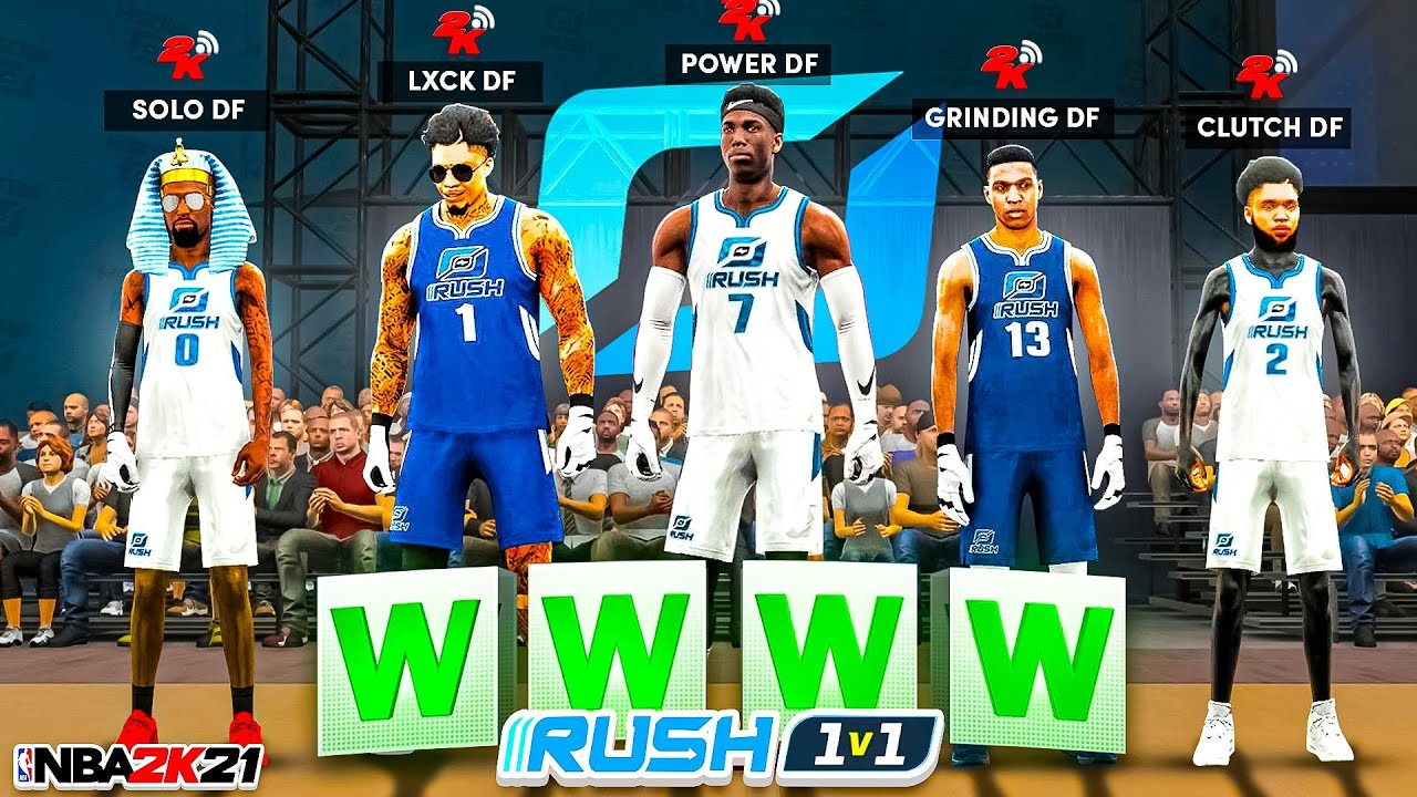 i hosted a DF 1v1 RUSH RACE in NBA 2K21! Who's the BEST PLAYER in MY CLAN!? NBA2K21 (Ep.2)