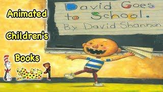 Gambar cover David Goes to School - Animated Children's Book