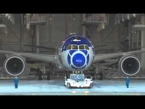 #aviation Painting #aircraft #time_lapse #vid ANA #airlines