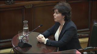 Los detalles menos conocidos de la difícil comparecencia de Soraya en el juicio del 'procés'