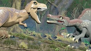 LEGO Jurassic World - Spinosaurus VS T-Rex Battle