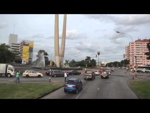 Viaje en bus turistico Montevideo Uruguay.