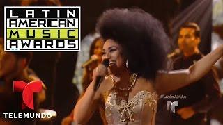 """Aymee, Gringo y Baby Rasta cantan """"Bailando Todo Se Olvida"""" en los Latin AMAs 2016   LAMAS   Entrete"""