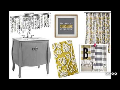 Yellow and Gray Bathroom Decor Ideas