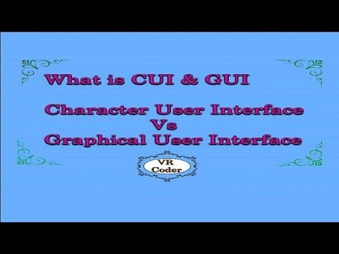 2 What is CUI and GUI || Defference between CUI and GUI