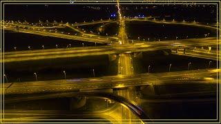 GLIWICE - DRONE HYPERLAPSE - NIGHT CITY TRAFFIC - Świat Okiem Drona