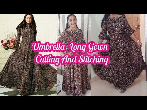 Umbrella Long Frock Cutting And Stitching   Umbrella Dress Design   Umbrella Gown
