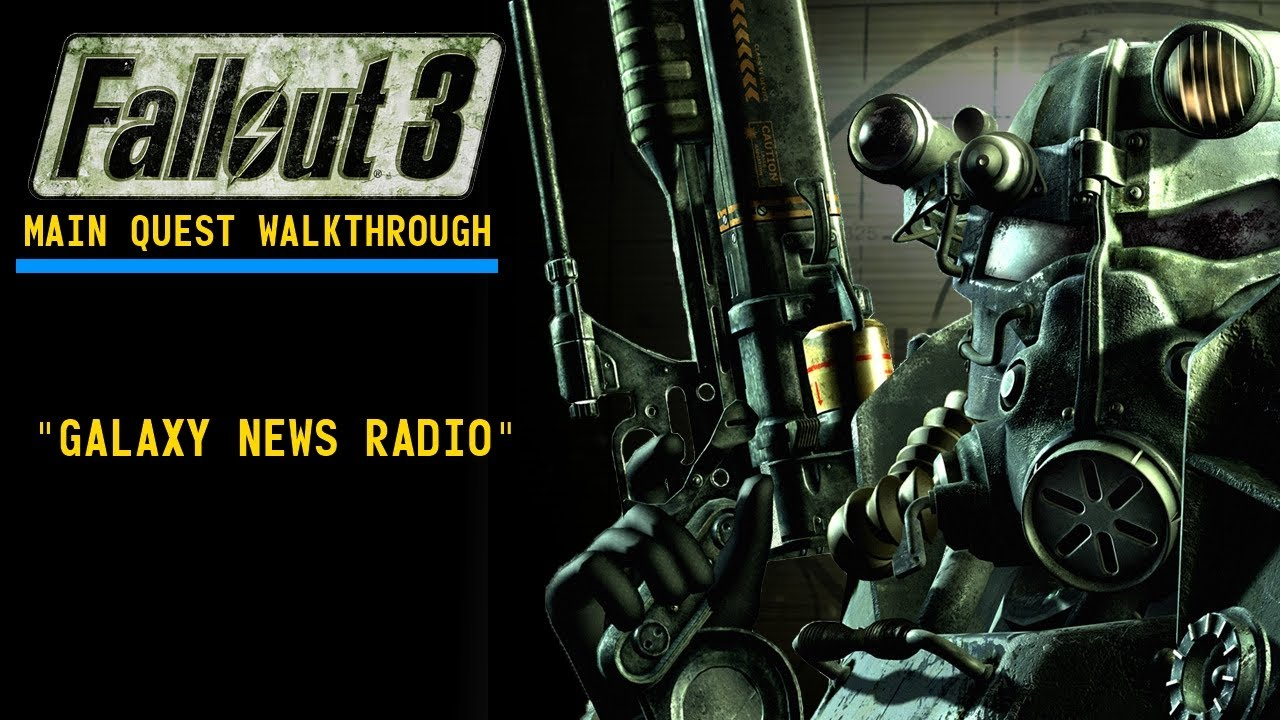 fallout 3 how to find galaxy news radio