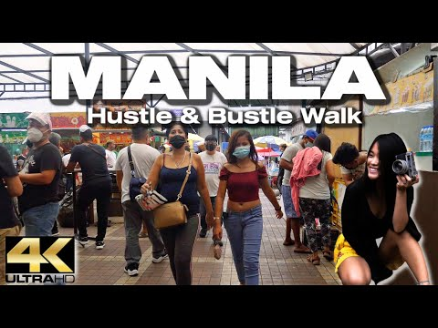 Hustle & Bustle WALK IN MANILA - [4K]