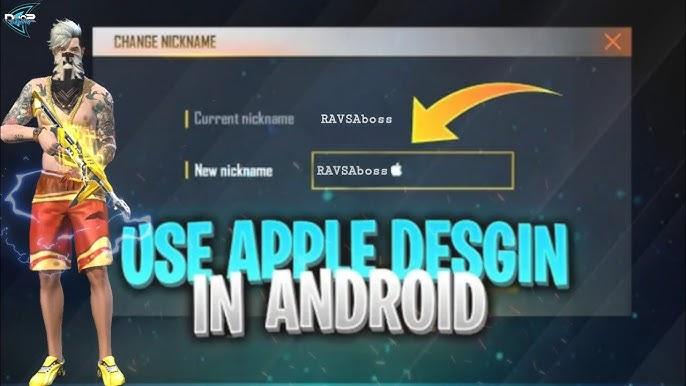 Free Fire Name Mein Apple Ka Logo Kaise Lagaen Free Fire Name Change With Apple Logo Youtube