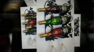 Wine Racks Metal Decorative Wine Storage Display