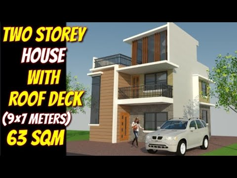 Two Storey House With Roof Deck Simple House Design Affordable House Plan Sissy Lyn Tv Youtube