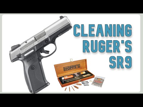 Cleaning a Ruger SR9 handgun
