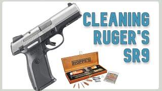 Cleaning a Ruger SR9 handgun