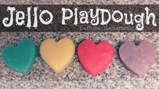 JELLO PLAYDOUGH - How To - Easy DIY PlayDoh | SoCraftastic