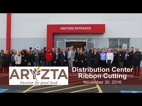 Village of Romeoville Ribbon Cutting 2016 - Aryzta Distribution Center