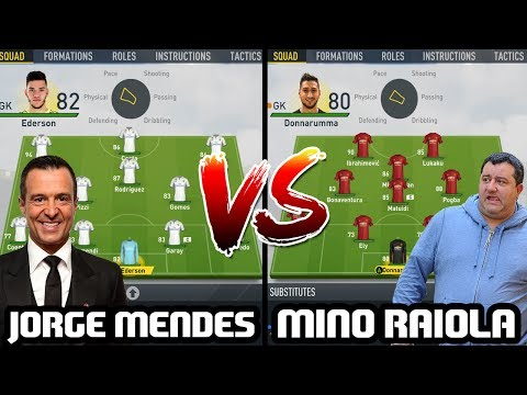 JORGE MENDES VS MINO RAIOLA! WHICH SUPER AGENT IS KING? - FIFA 17 EXPERIMENT