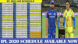 IPL 2020 schedule is out now | Daily sports news | Sports Story |