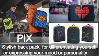 this backpack for girls and men called the pix back pack  will give you stylized backpack for school