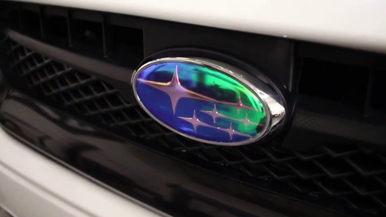 Neo Chrome Subaru Emblem Vinyl Overlay Install Youtube
