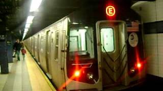 MTA New York City Subway R-160 E train arriving at 42 St-Port Authority Bus Terminal
