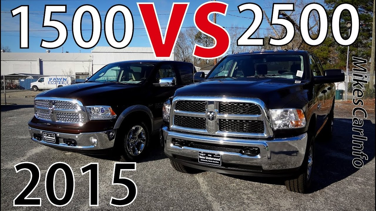 2016 Dodge Ram 3500 >> 2015 RAM 1500 VS 2500 - YouTube