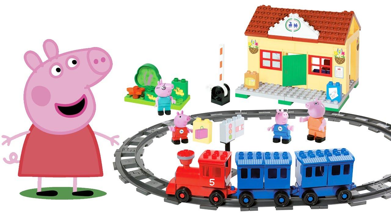 Обзор конструктора Свинка Пеппа. Железнодорожная станция с поездом (PEPPA PIG TRAIN STATION)