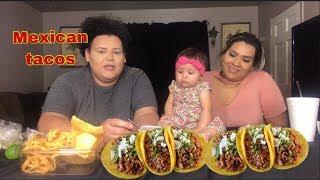 Mexican tacos MUKBANG (baby Jazzlynn  and sister )