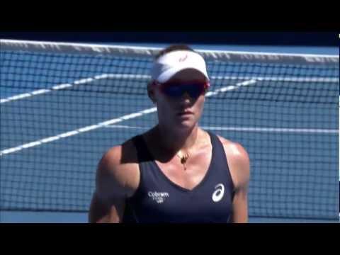 Sam Stosur Incredible Shank Serve - Australian Open 2013