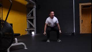 Dumbbell Duel Frog Squats