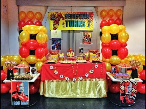 Fiesta de iron man party2017 mesa de dulces boys - Ideas decoracion fiesta ...