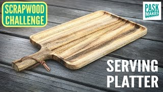Wooden Serving Platter with Texture - Scrapwood Challenge Episode Ten