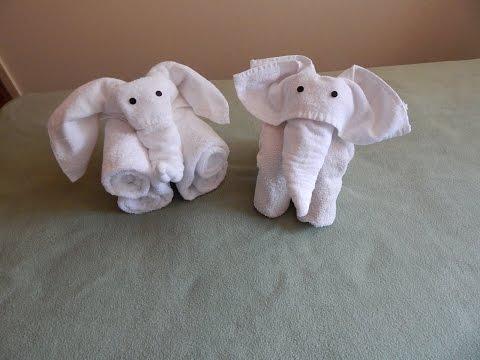 2 Ways To Fold Elephants Video I, with music.