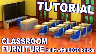 Tutorial - Lego Classroom Furniture [cc]