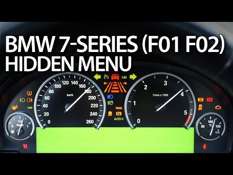 BMW 7-Series hidden menu, instrument cluster test mode (F01, F02)