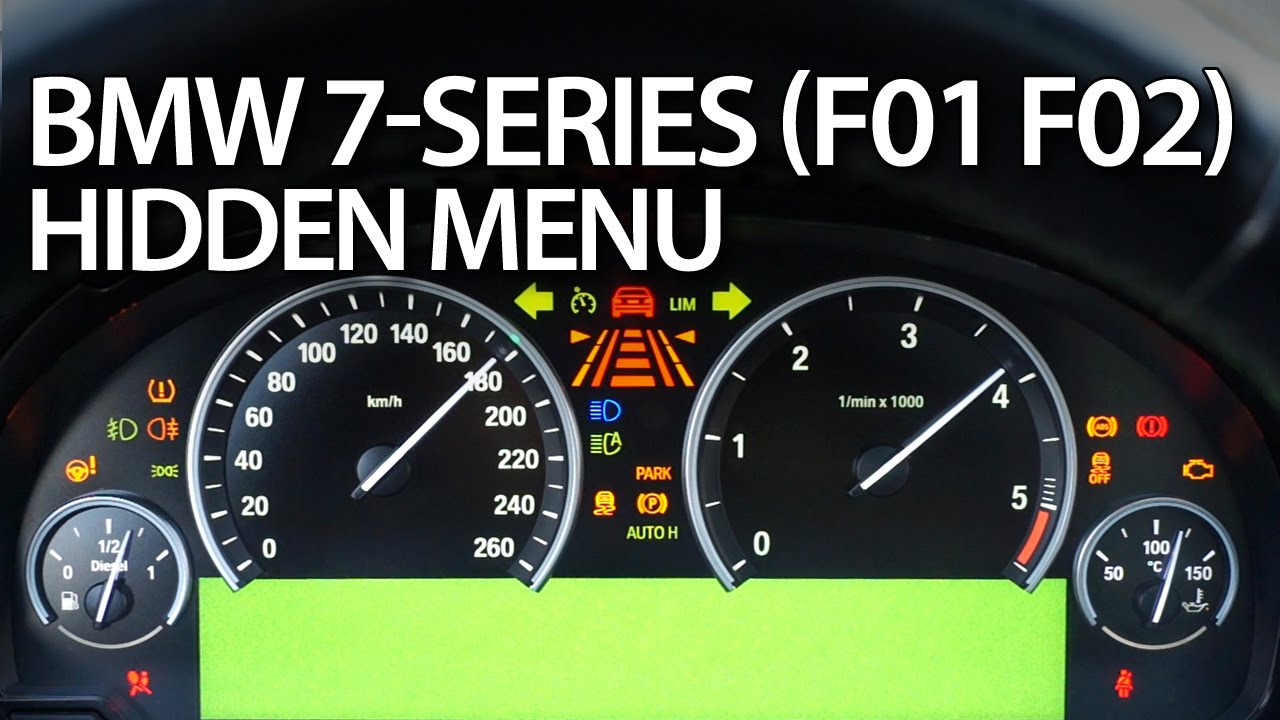 small resolution of bmw 7 series hidden menu instrument cluster test mode f01 f02 youtube