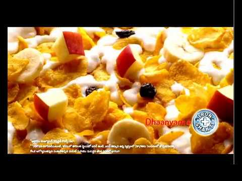 Kelloggs Corn Flakes - Right start to the day. (TELUGU)